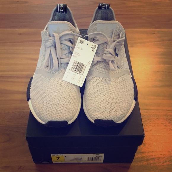 Adidas Nmd R Grey Camo Heel